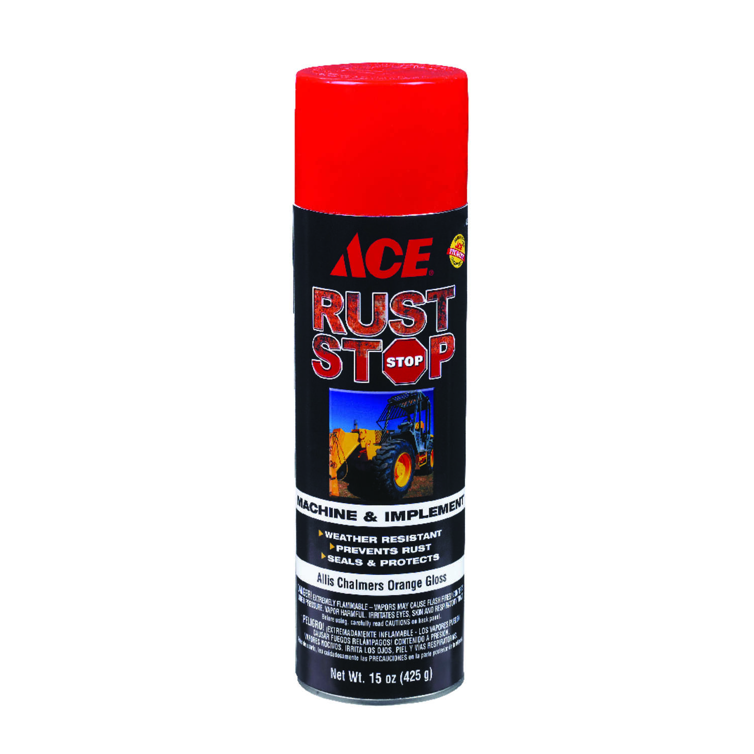 Ace  Rust Stop  Gloss  Allis Chalmers Orange  Machine And Implement Enamel Spray Paint  15 oz.