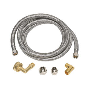 Ace  3/8  3/8  Braided Stainless Steel  Supply Line  48 in. Compression  MIP