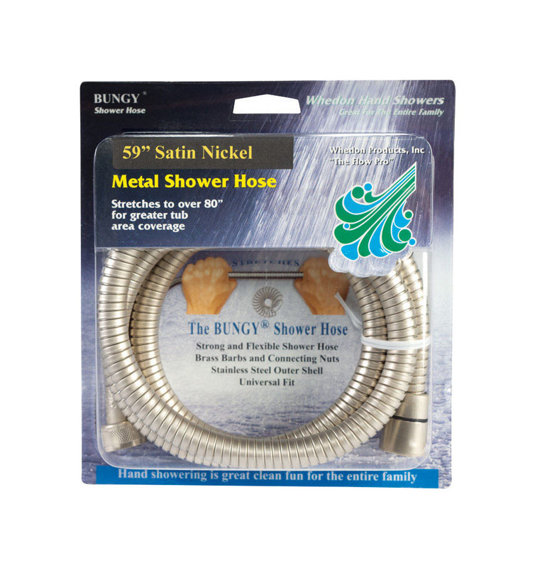Whedon  Bungy  Brushed Nickel  1  Shower Hose