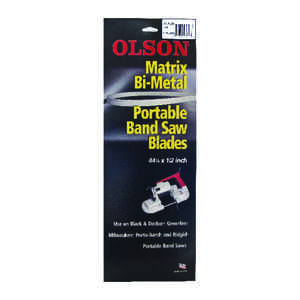 Olson  0.5 in. W x 44.9  L x 0.02 in.  Portable Band Saw Blade  14 TPI Regular  1 pk Bi-Metal