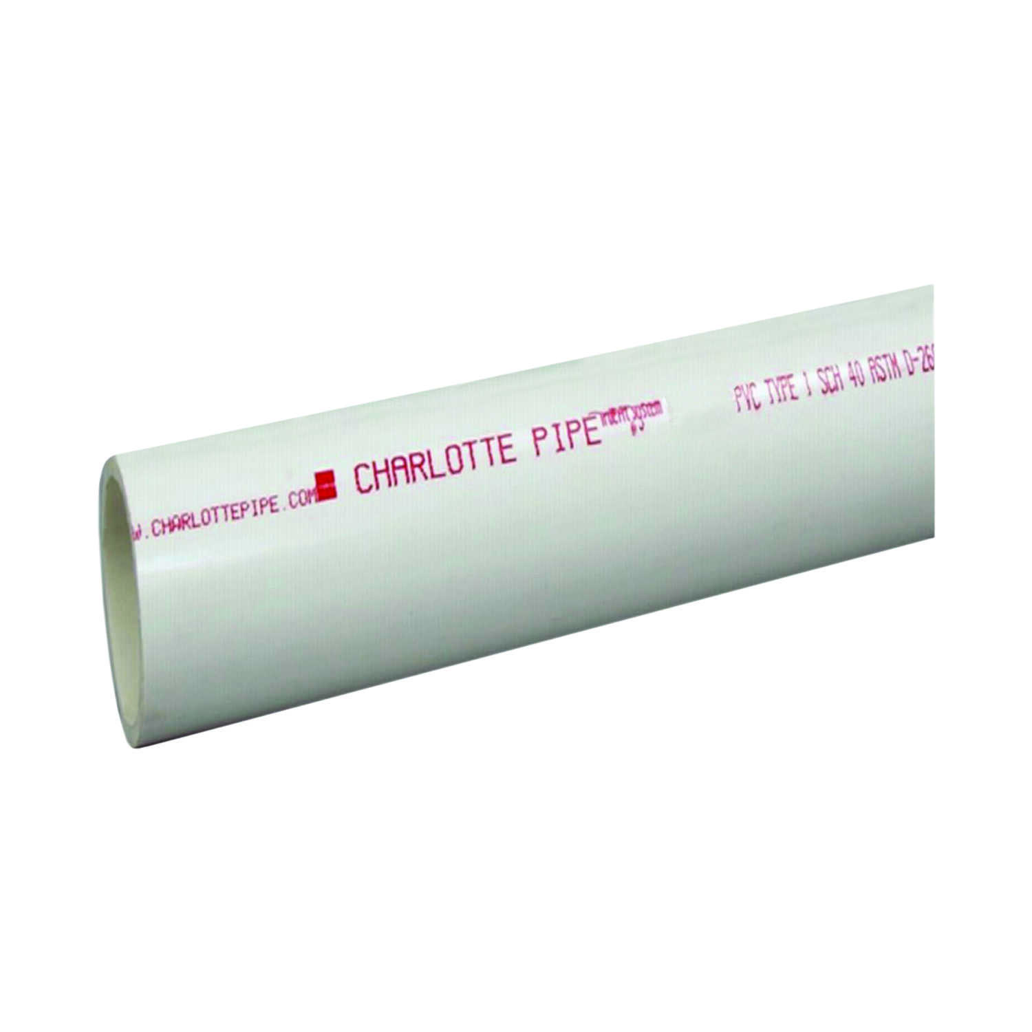 Cresline  PVC Pipe  2 in. Dia. x 20 ft. L Plain End  Schedule 40  280 psi