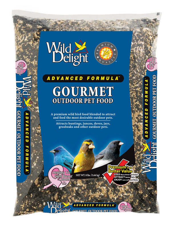 Wild Delight  Gourmet  Assorted Species  Wild Bird Food  Sunflower Seeds  8 lb.