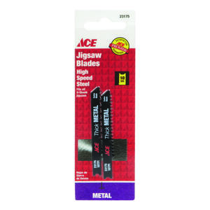 Ace  2-3/4 in. Steel  Universal  Jig Saw Blade  10 TPI 2 pk