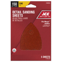 Ace 5 in. L x 3-1/2 in. W 150 Grit Aluminum Oxide Mouse Sandpaper 5 sheet