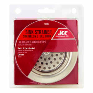 Ace  3-1/2 in. Dia. Stainless Steel  Basket Strainer Assembly