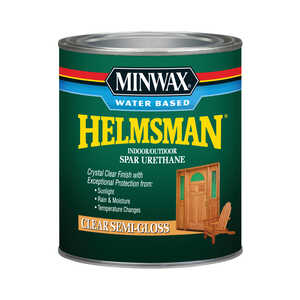 Minwax  Indoor and Outdoor  Clear  Semi-Gloss  Spar Urethane  1 qt. Semi-Gloss