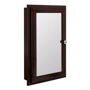 Continental Cabinets  25-3/4 in. H x 16 in. W x 4-3/4 in. D Rectangle  Java  Medicine Cabinet/Mirror