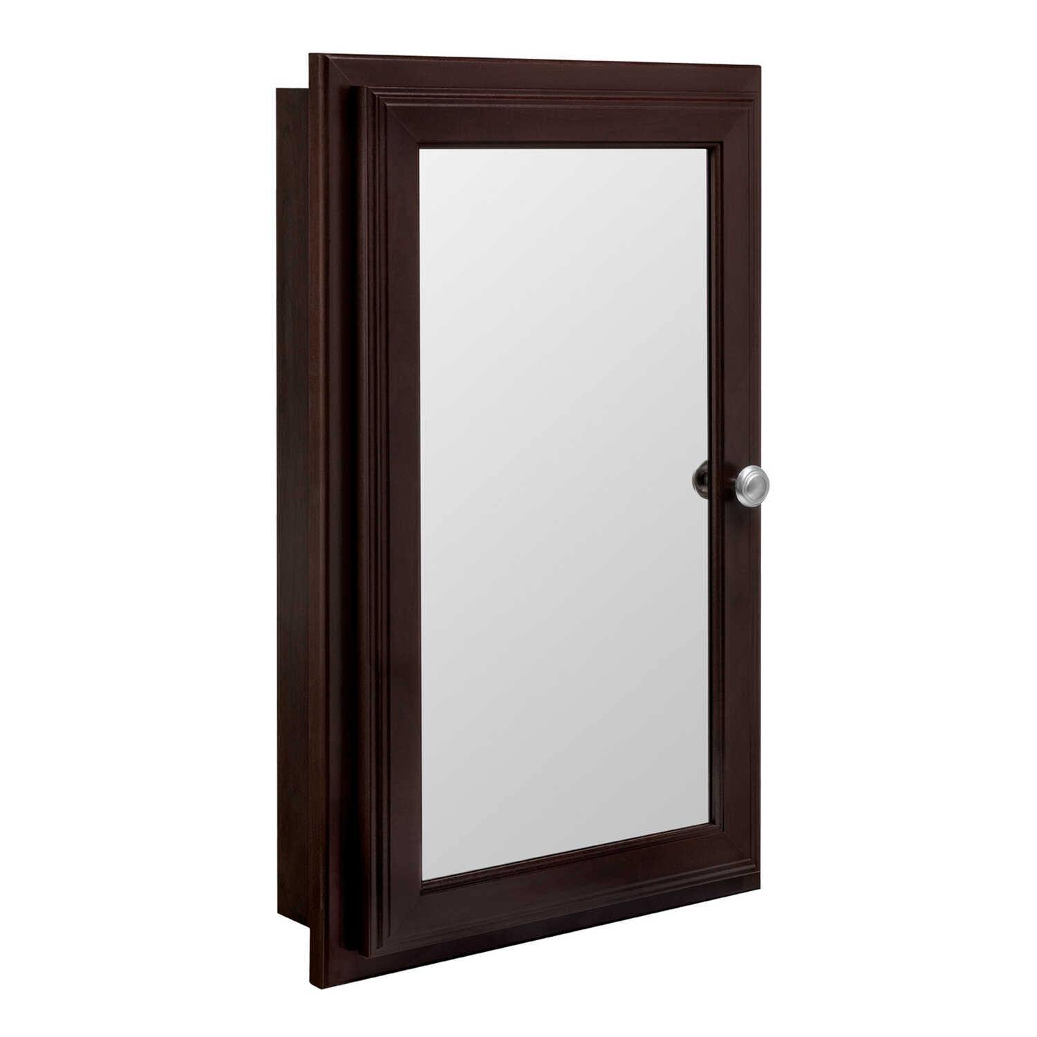Continental Cabinets  25-3/4 in. H x 16 in. W x 4-3/4 in. D Rectangle  Medicine Cabinet/Mirror  Java