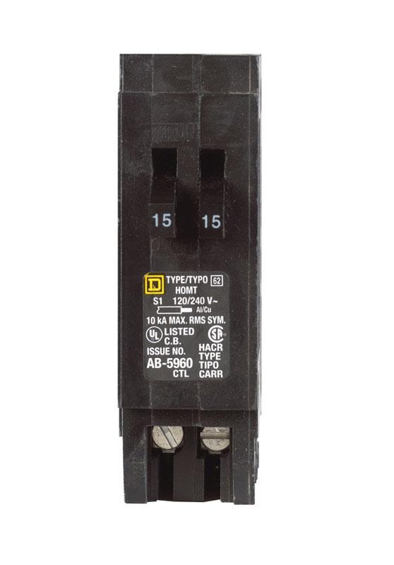 square d homeline 15 15 amps tandem single pole circuit breaker rh acehardware com Circuit Breaker Fuse Replacement Fuses and Circuit Breakers