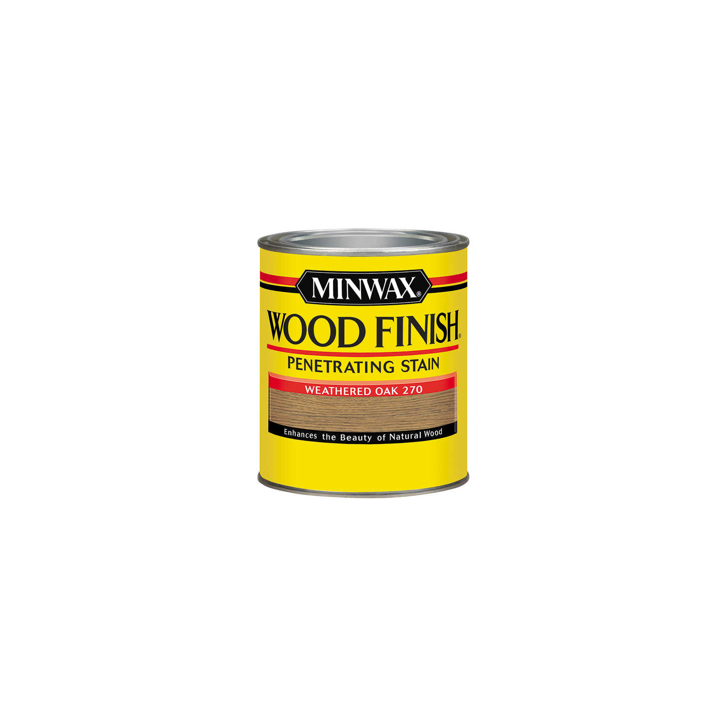 Minwax  Wood Finish  Semi-Transparent  Weathered Oak  Oil-Based  Oil  Wood Stain  0.5 pt.