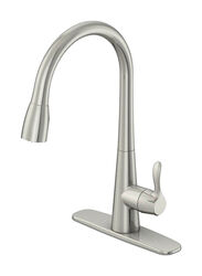 OakBrook Vela One Handle Brushed Nickel Pulldown Kitchen Faucet