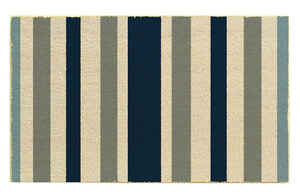 J & M Home Fashions  Blue  Coir  Nonslip Door Mat  30 in. L x 18 in. W