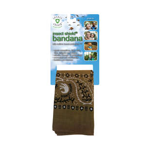 Insect Shield  Olive Green  Organic Bandana  For Mosquitoes/Ticks 1 pk