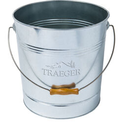 Traeger Galvanized Steel Pellet Bucket For Traeger Pellet Storage & Filter Kit 11.42 in. L x 10.6