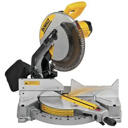 DeWalt 12 in. Corded Single-Bevel Compound Miter Saw 15 amps 4000 rpm