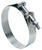 Ideal  Tridon  2-1/8 in. 2-7/16 in. 213  Silver  Hose Clamp With Tongue Bridge  Stainless Steel Band