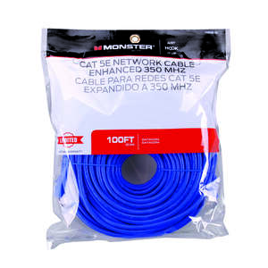 Monster Cable  Hook It Up  Category 5E  Networking Cable  100 ft. L