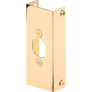 Prime-Line  4.5 in. H x 1 in. L Brass-Plated  Brass  Door Edge Reinforcer