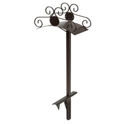 Liberty Garden  125 ft. Free Standing  Decorative  Black  Hose Stand