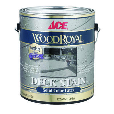 Ace  Wood Royal  Solid  Flat  Cedar  Acrylic Latex  Deck and Siding Stain  1 gal.
