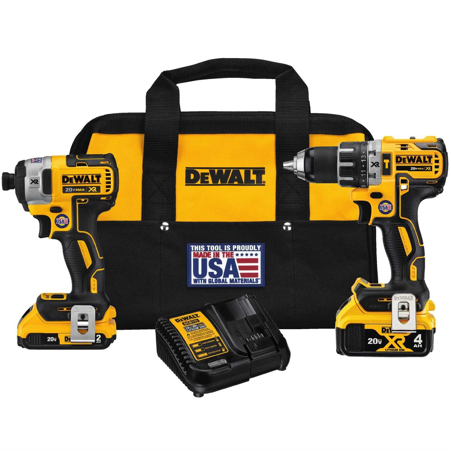 DeWalt  20V MAX XR  20V MAX  Cordless  Brushless 2 tool Compact  Hammer Drill and Impact Driver Kit