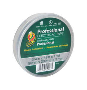 Duck Brand  3/4 in. W x 66 ft. L Gray  Vinyl  Electrical Tape