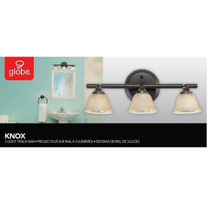 Globe  Oil Rubbed Bronze  Black  3 lights Track Light Kit