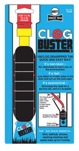 Harvey's  Clogbuster  4 in. Drain Unclogger