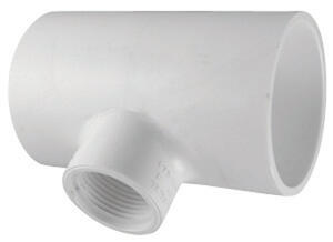 Charlotte Pipe  Schedule 40  1/2 in. Slip   x 1/8 in. Dia. Slip  PVC  Reducing Tee