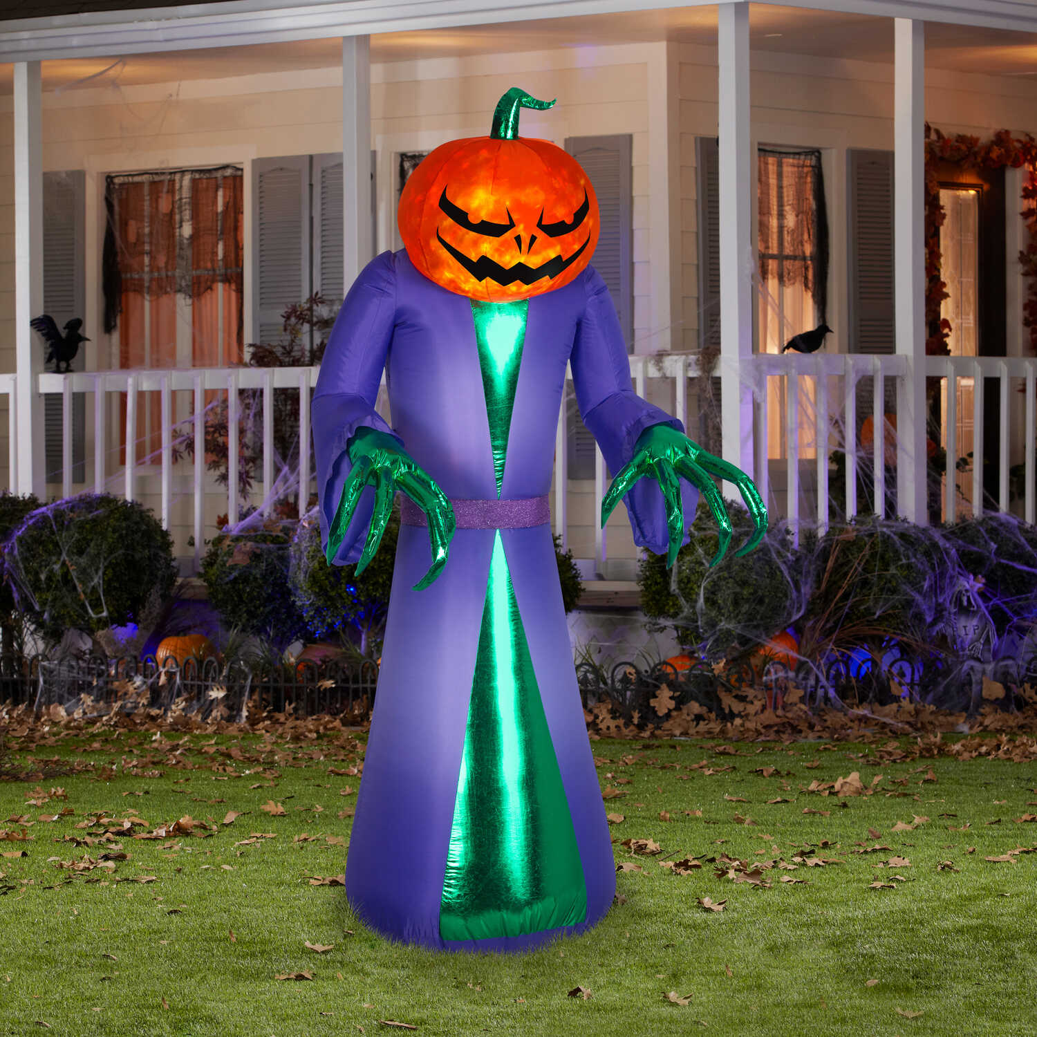 Znone  Airblown  Pumpkin Reaper  Lighted red, yellow  Halloween Inflatable  83.86 in. H x 34.65 in.