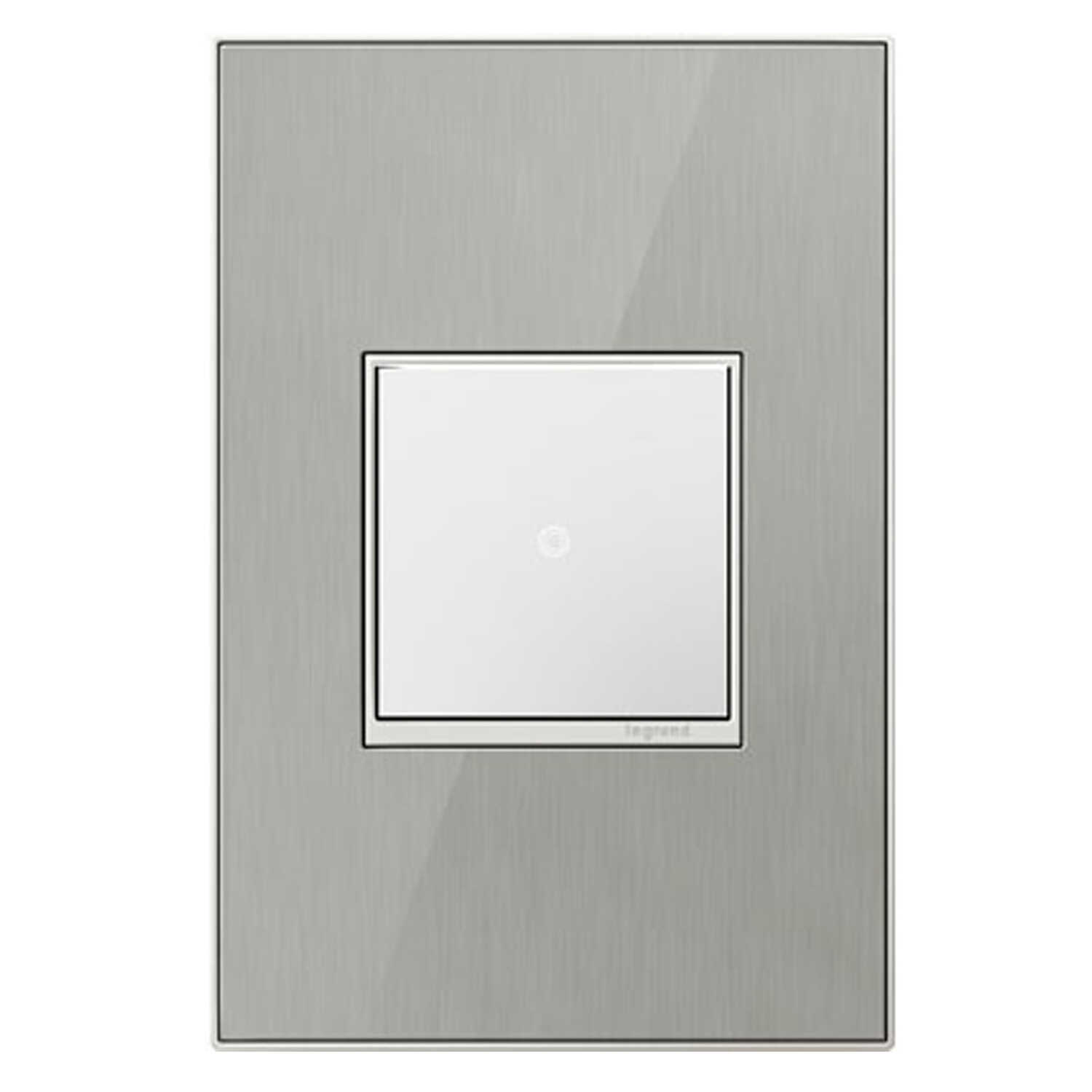 Legrand  Adorne  Metallic  1 gang Thermoplastic Nylon  GFCI/Rocker  Wall Plate  1 pk