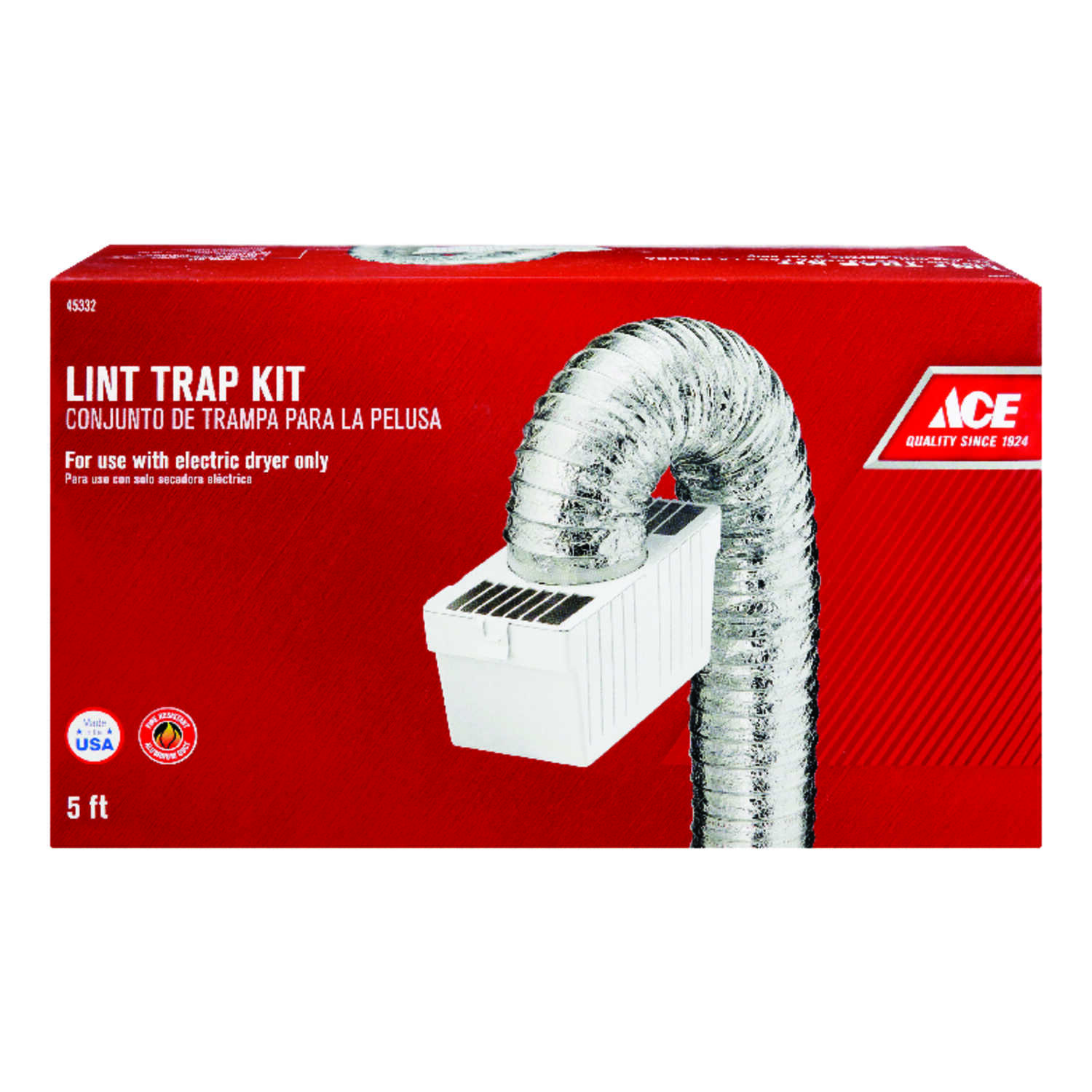 Ace  4 in. W x 4 in. L White  Plastic  Lint Trap