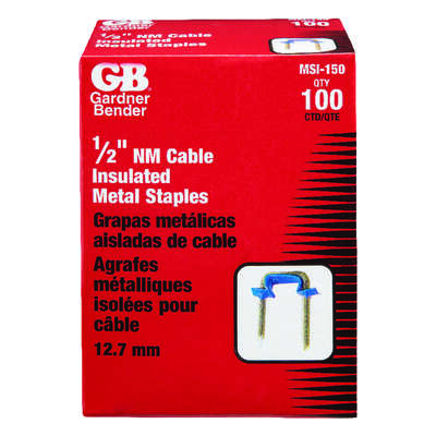 Gardner Bender 1/2 in. W Metal Insulated Cable Staple 100 pk