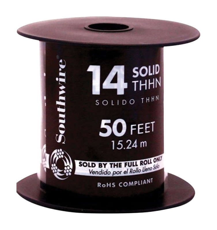 Southwire  50 ft. Solid  THHN  14/1  Building Wire