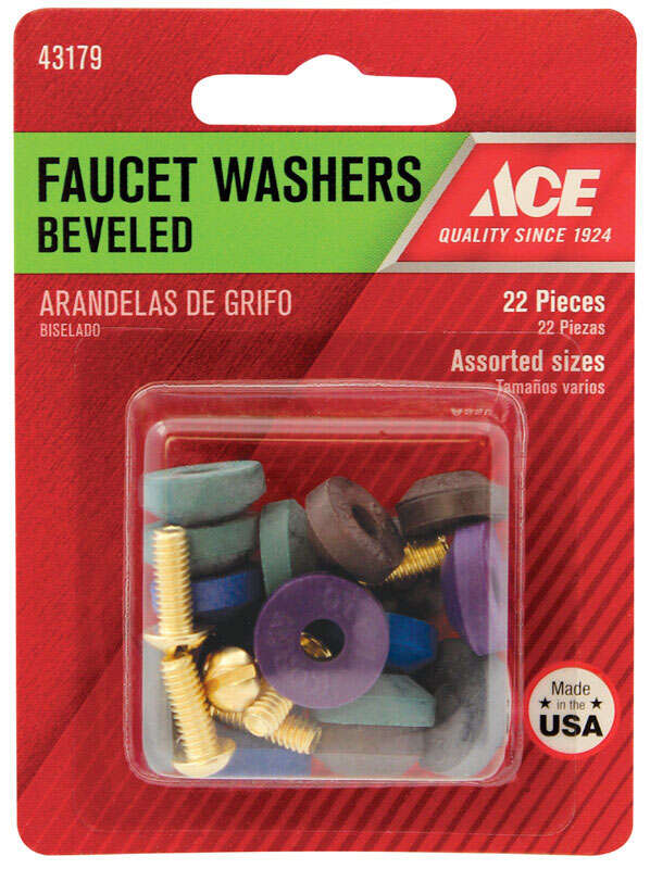 Ace  1-7/8 in. Dia. Rubber  Beveled Faucet Washer  10