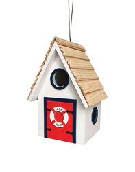 Home Bazaar  8.15 in. H x 5.12 in. W x 5.5 in. L Wood  Bird House