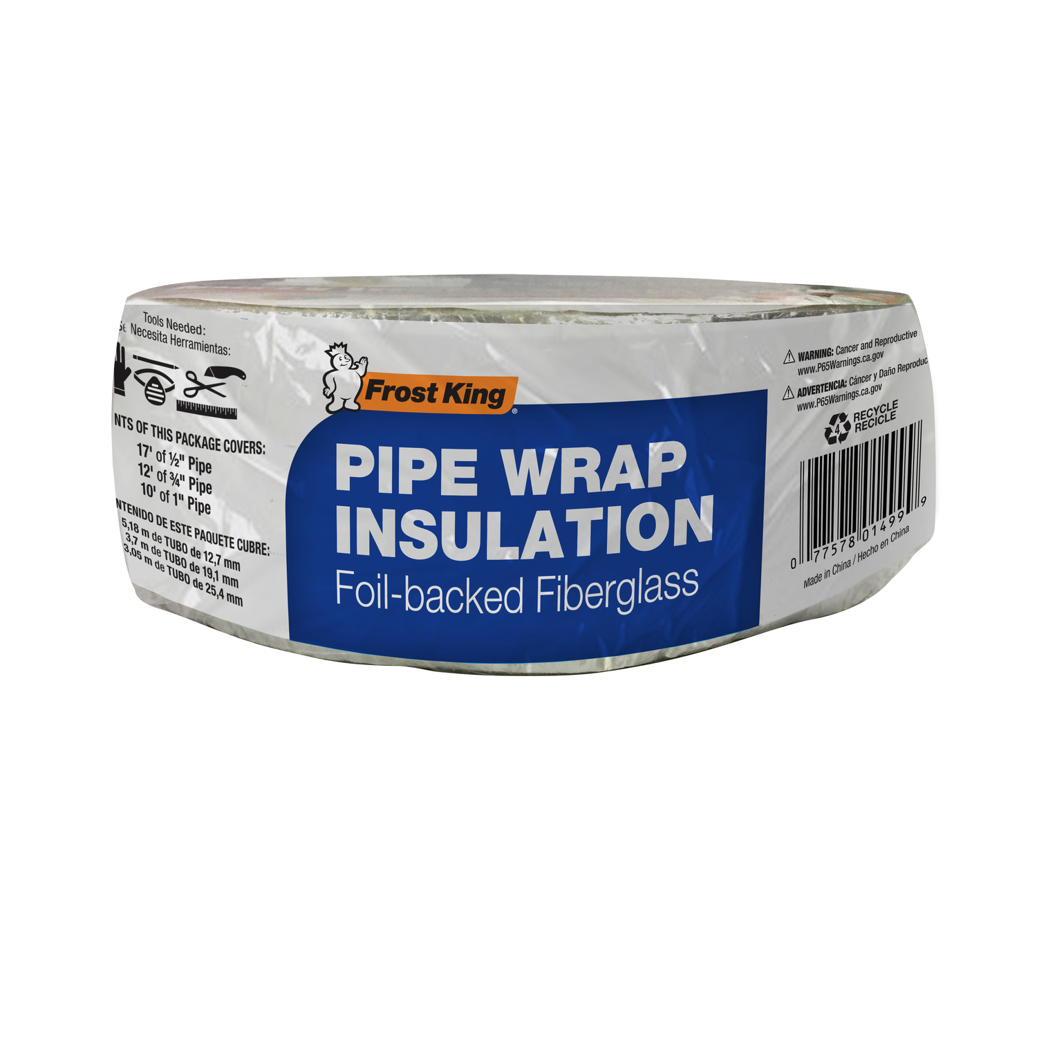 """Multi Use Fiberglass Insulation 48/"""" Pipes Ducts Walls Frost King Noise Cushion"""