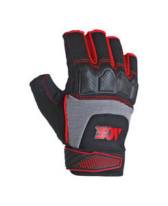 Ace  Men's  Indoor/Outdoor  Synthetic Leather  Fingerless  Work Gloves  Black and Gray  M  1