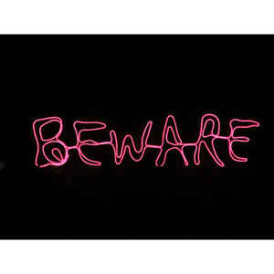 Sylvania  Battery Operated Beware Window Decor  Lighted Halloween Decoration  12 in. H x 24 in. W 1