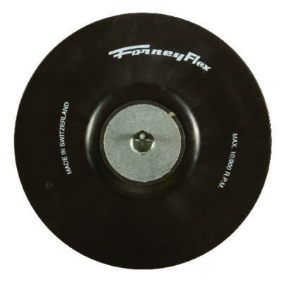 Forney  7 in. Dia. Rubber  Backing Pad  5/8 in.  10000 rpm 1 pc.