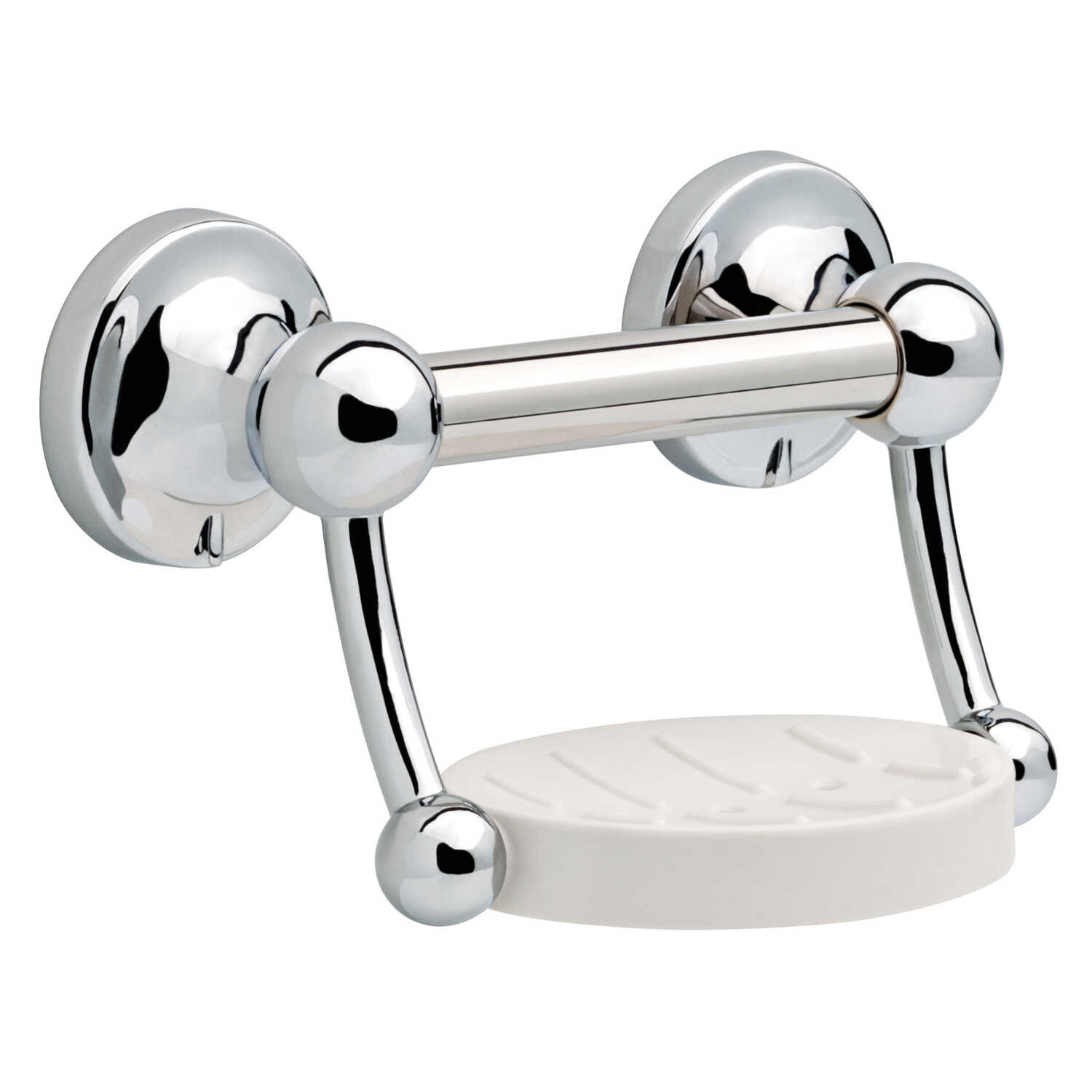 Delta  Polished Chrome  Stainless Steel  Soap Dish with Assist Bar  5 in. H x 9.2 in. W x 9 in. L