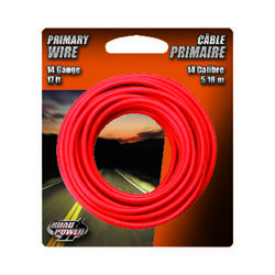 Coleman Cable  17 ft. 14 Ga. Primary Wire  Red