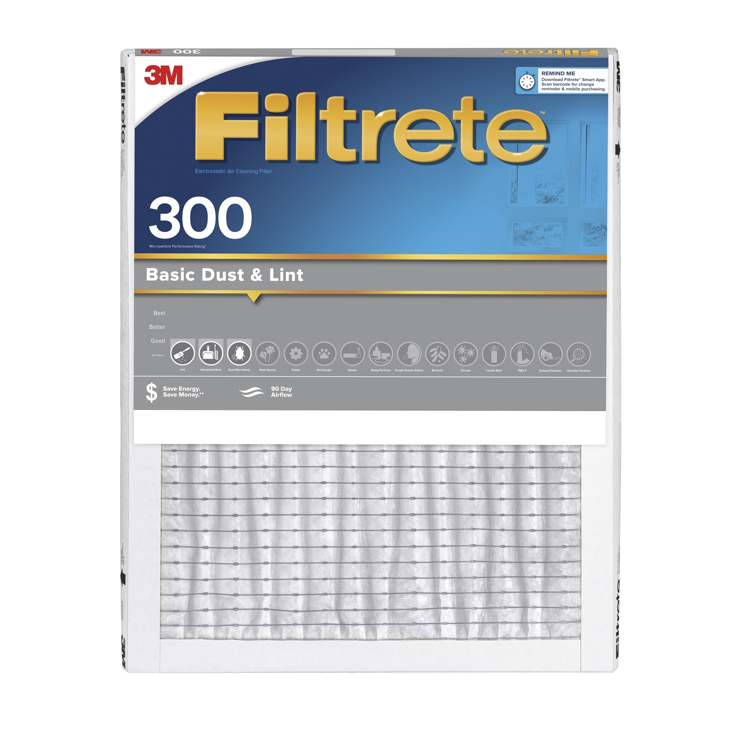3M  Filtrete  25 in. H x 16 in. W x 1 in. D Air Filter