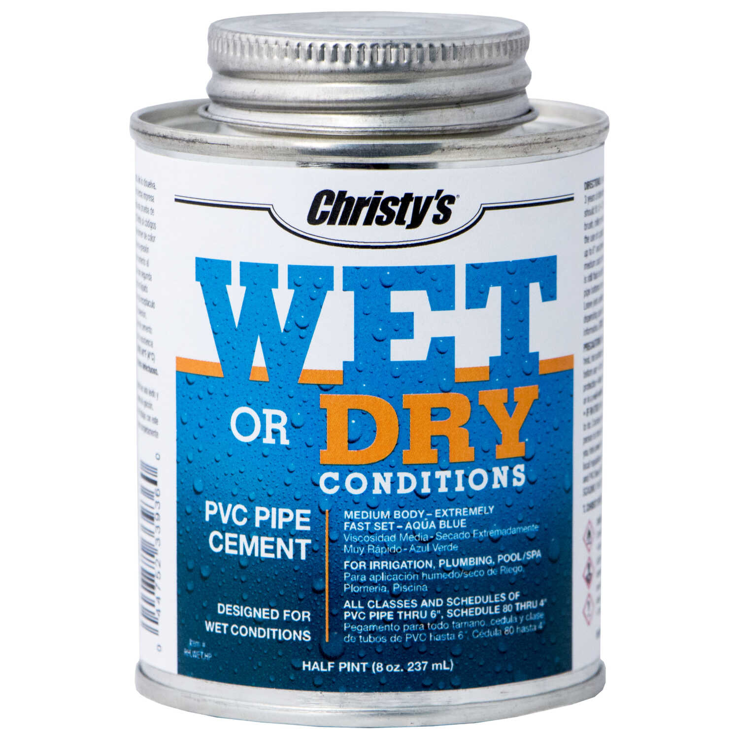 Christys  Wet or Dry  Blue  Cement  For PVC 8 oz.