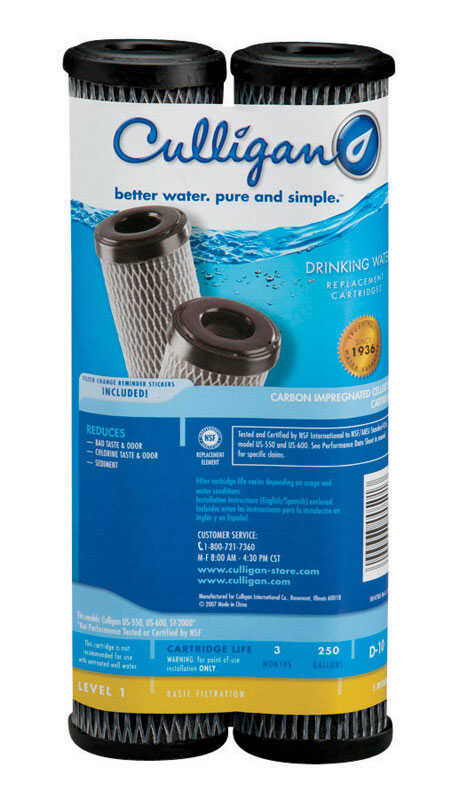 Culligan  Better Water Pure and Simple  Drinking Water Replacement Filter  For Under Sink 250 gal.