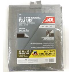 Ace  20 ft. W x 30 ft. L Heavy Duty  Polyethylene  Tarp  Black/Silver