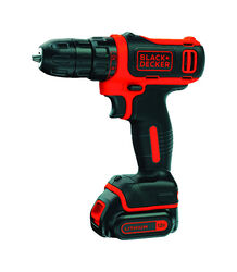 Black and Decker  12 volt Brushed  Cordless Drill/Driver  Kit  3/8 in. 550 rpm