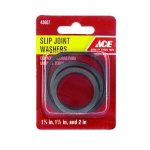 Ace  Assorted in. Dia. Rubber  Assorted Washer  1 pk