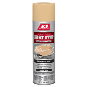 Ace  Rust Stop  Gloss  Almond  Spray Paint  15 oz.