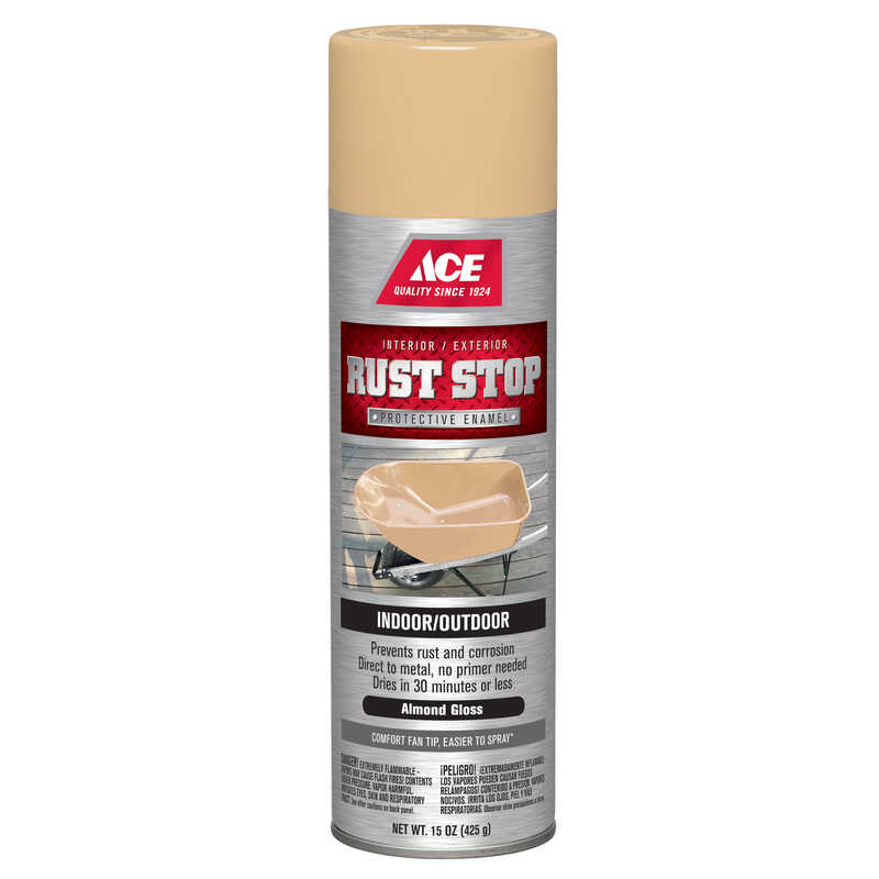 Ace  Rust Stop  Gloss  Almond  15 oz. Spray Paint
